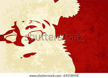 Santa Claus, Grunge background - stock vector