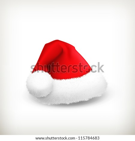 Santa Claus hat, vector - stock vector