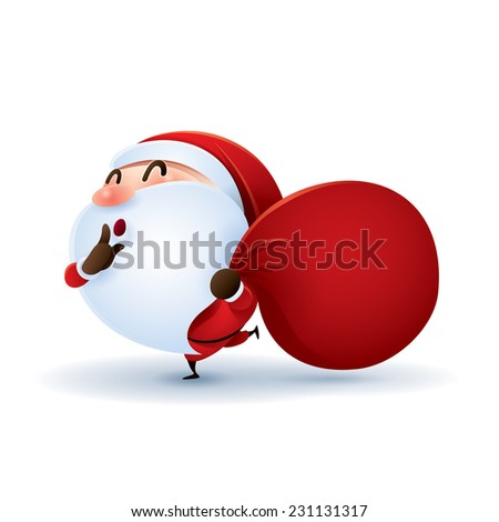 Santa Claus is coming. - stock vector