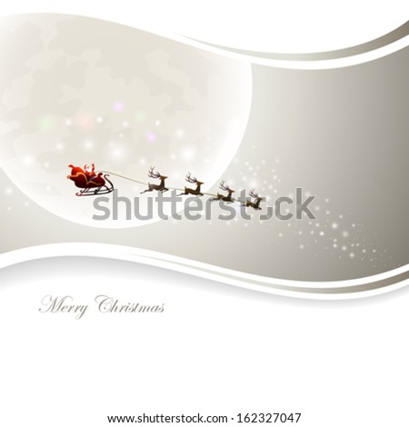 Santa Claus is coming to my town - stock vector