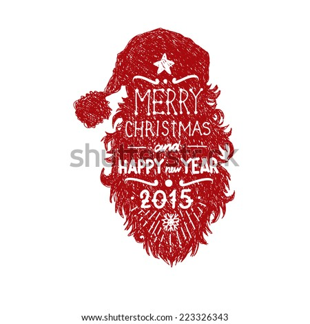 Santa claus isolated on a white backgrounds, vector illustration - stock vector