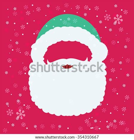 Santa Claus mask, add face, vector - stock vector