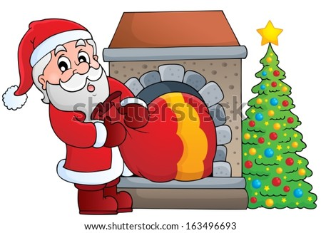 Santa Claus theme image 7 - eps10 vector illustration. - stock vector