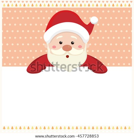 Santa claus with merry Christmas background - stock vector