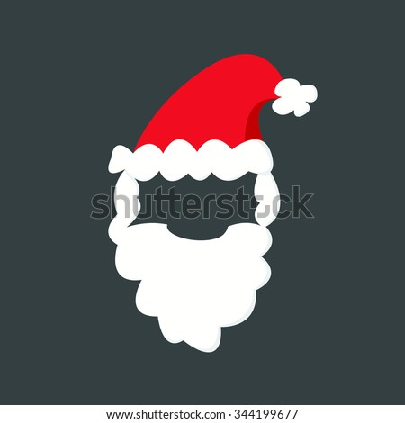Santa Clause icon cartoon. For christmas, new year design greeting card - stock vector