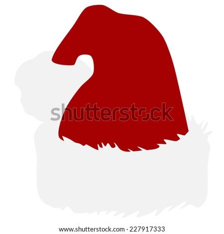 Santa hat, christmas hat, christmas hat isolated, santa hat isolated - stock vector