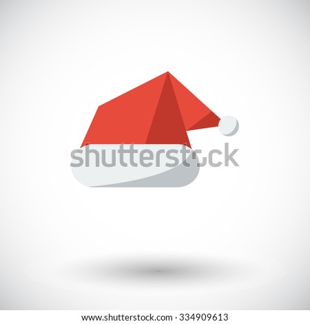 Santa hat icon. Flat vector related icon for web and mobile applications. It can be used as - pictogram, icon, infographic element. Vector Illustration. - stock vector