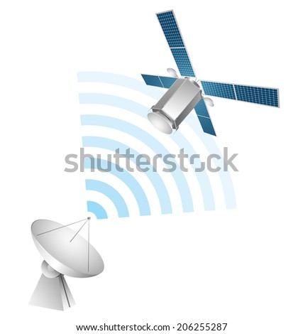 Satellite communication - stock vector