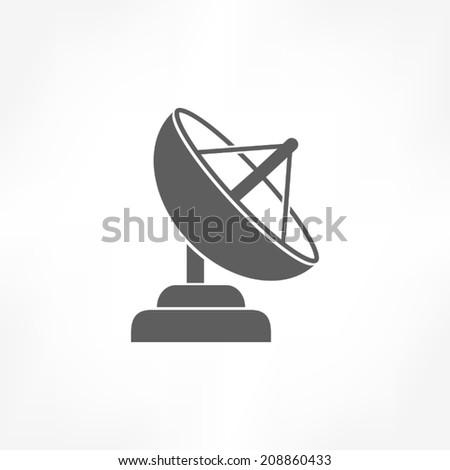 satellite dish - stock vector