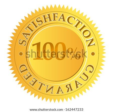 satisfaction guaranteed - stock vector