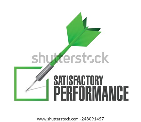 satisfactory performance check dart illustration design over a white background - stock vector