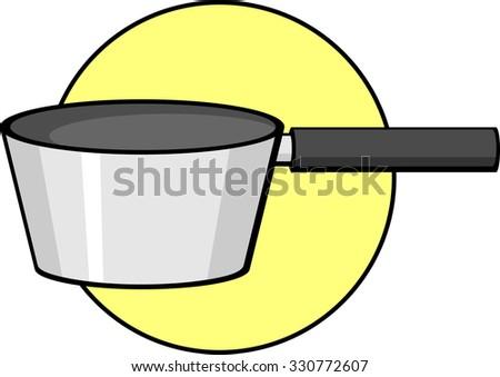 saucepan - stock vector