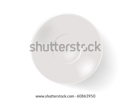 Saucer on a white background - stock vector