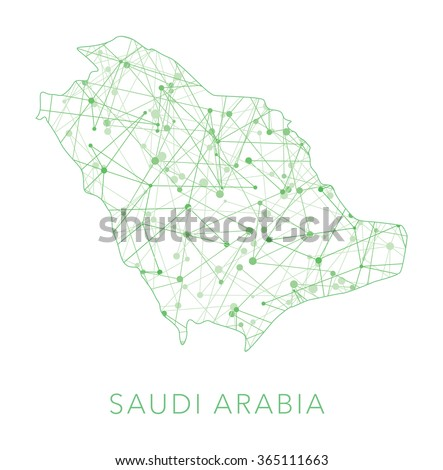Saudi Arabia dotted texture country vector - stock vector