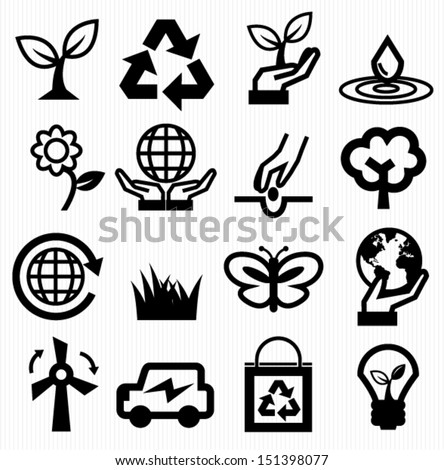 Save energy icon - stock vector