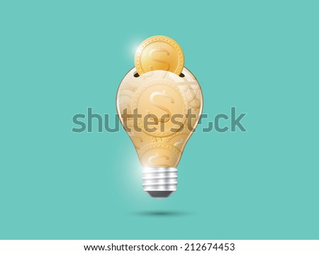 Save energy, save money - stock vector
