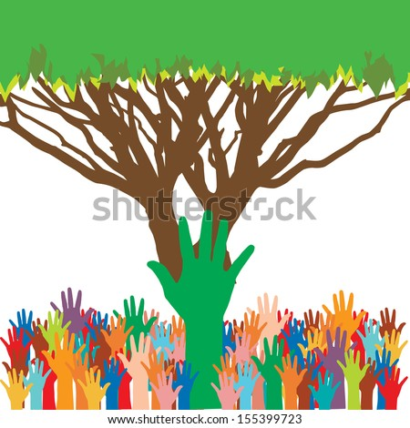 save environment save tree - stock vector