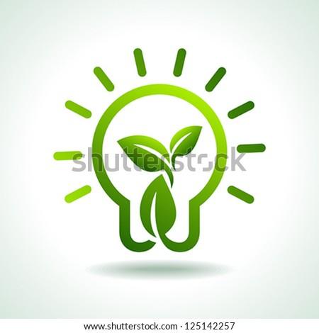 save green environment idea - stock vector