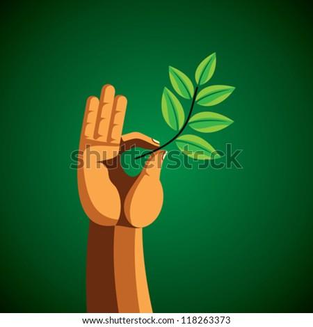 save greens vactor - stock vector