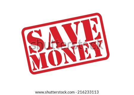 SAVE MONEY Rubber Stamp vector over a white background. - stock vector