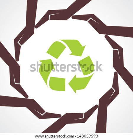 save nature concept - vector illustration - stock vector