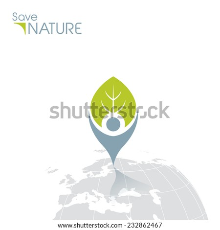 Save Nature Icon - stock vector