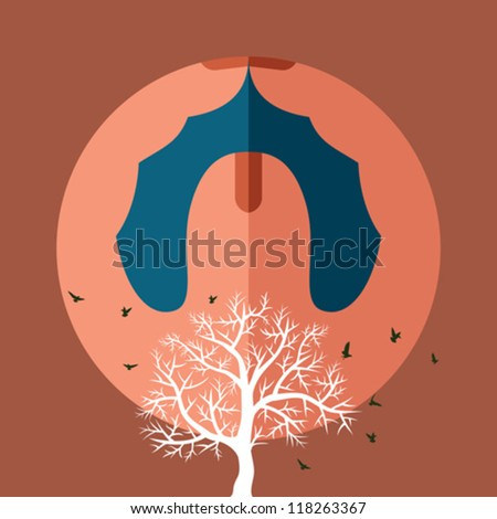 save nature vector - stock vector