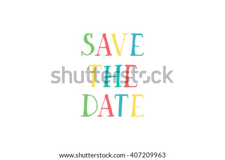 Save the date card. For web and mobile icon isolated on background, art template, retro elements, logo, identity, labels, badge, ink, tag, card - stock vector