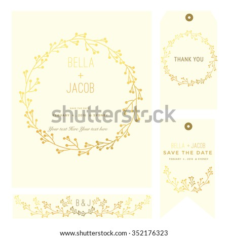 Save the date cards. - stock vector