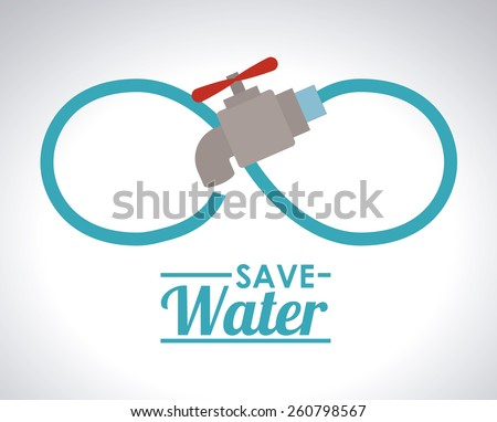 Save Water design, vector illustration - stock vector