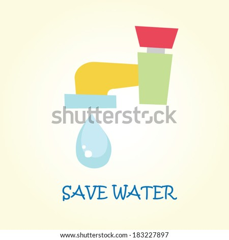 Save water Illustration - stock vector