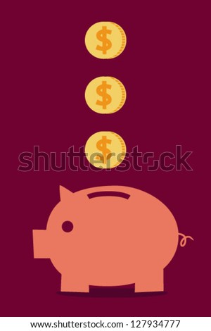 Saving - stock vector