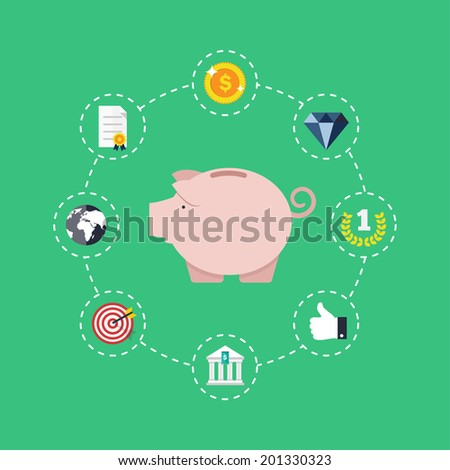 Saving money concept. - stock vector
