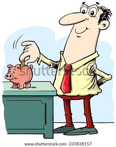 Saving money concept - stock vector