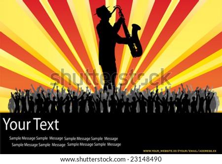 Sax Message - stock vector