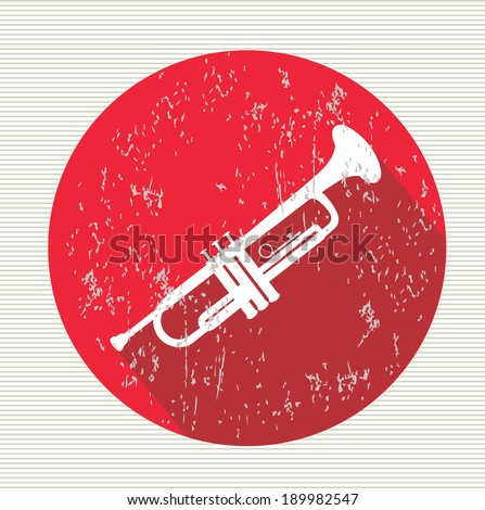 Saxophone  symbol,vector - stock vector