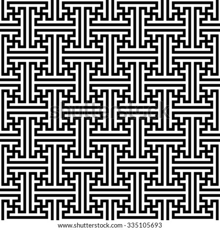 Sayagata pattern vector, seamless geometric pattern - stock vector