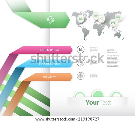 Scalable abstract infographics composition for marketing presentation. Eps10 vector. - stock vector