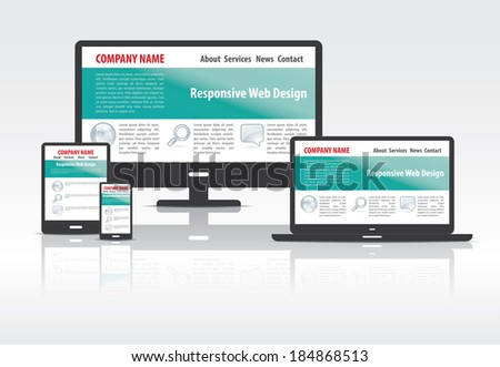 Scalable and flexible modern responsive web design concept . EPS10 file and included high resolution jpg - stock vector