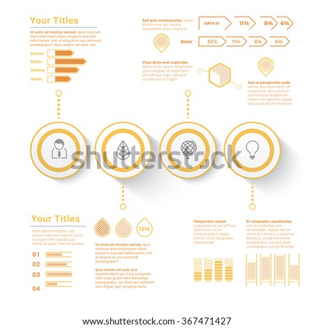 Scalable & Isolated Eps10 Infographics Objects for Your Information - stock vector