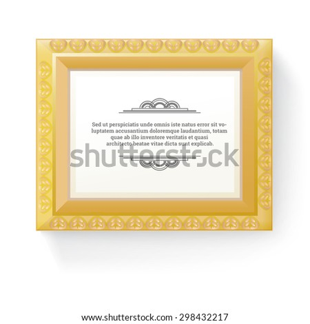 Scalable Vintage Style Thick Border Frame Esp10 Design Illustration for Your Content - stock vector