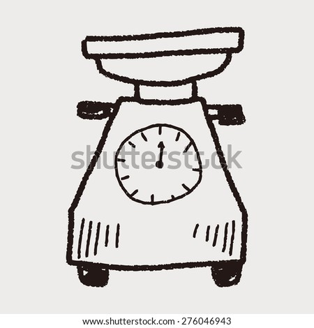scale doodle - stock vector