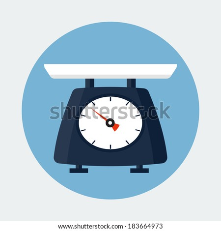Scale flat icon - stock vector