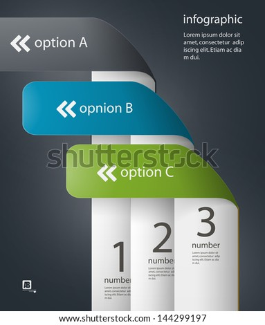 Scale for information - stock vector
