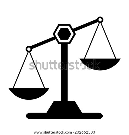 Scale icon on white background. Vector illustration. - stock vector