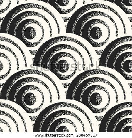 Scale motif with noisy details. Seamless pattern. Vector. - stock vector
