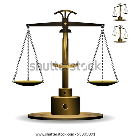 Scale of Justice Vector - stock vector