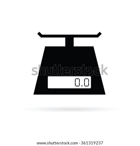 scales digital for food vector in black color - stock vector