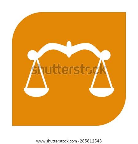 Scales icon. - stock vector