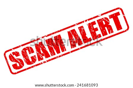 SCAM alert red stamp text on white - stock vector
